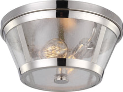 Feiss Harrow 2 Light Flush Mount Polished Nickel Fm393Pn