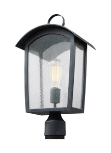 Hodges 1-Light Outdoor Post Lantern Ash Black