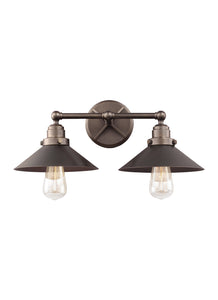 Feiss Hooper 2-Light Bath Vanity Antique Bronze