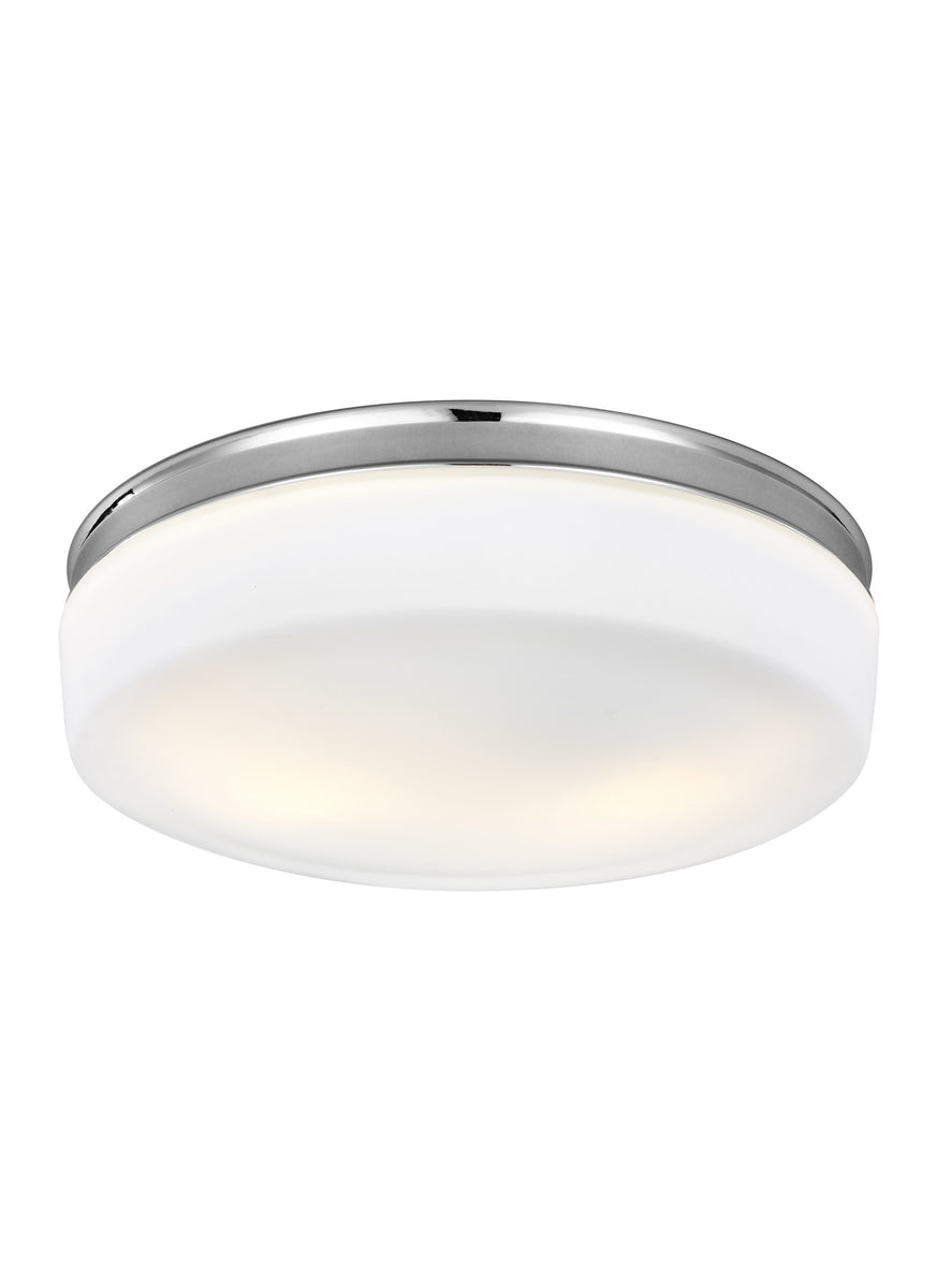 "14""W Issen 2-Light Flush Mount Chrome"