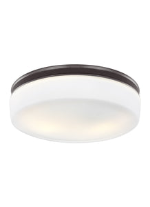 Feiss Issen 2-Light Flush Mount Oil Rubbed Bronze