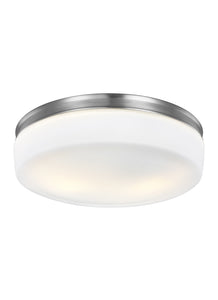 Feiss Issen 2-Light Flush Mount Satin Nickel