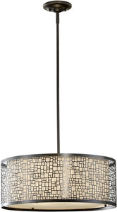 "20""w Joplin 3-Light Large Pendant Light Antique Bronze"