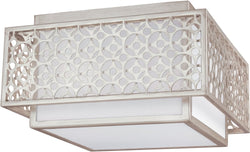 Feiss Kenney 2-Light Flush Mount Sunrise Silver FM499SRS
