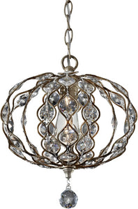 Feiss Leila 1-Light Chandelier Burnished Silver F27421BUS
