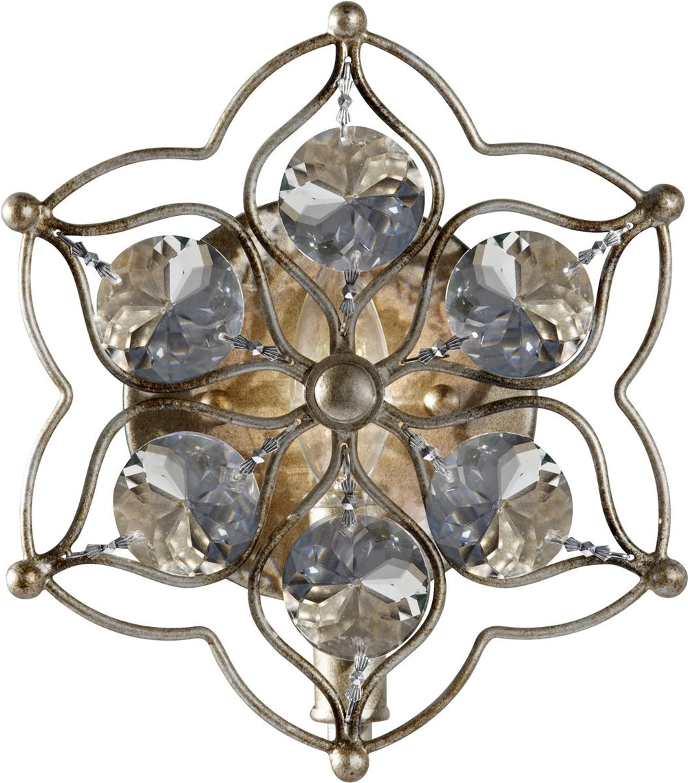 "8""w Leila 1-Light Wall Sconce Burnished Silver"