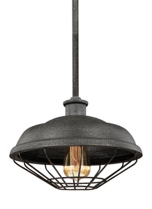 Lennex 1-Light Mini-Pendant Slate Grey Metal