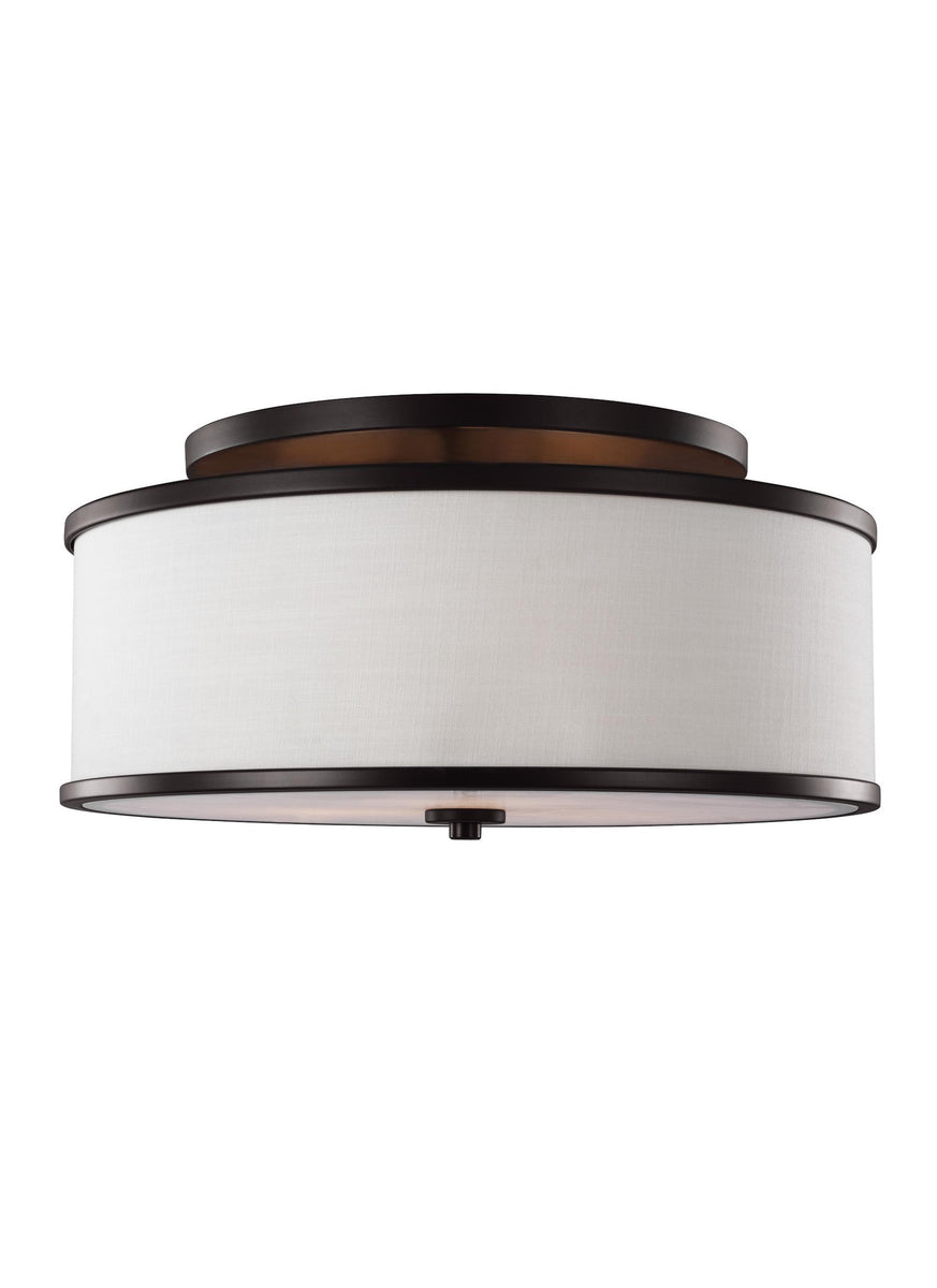 "20""W Lennon 3-Light Semi-Flush Mount Oil Rubbed Bronze"