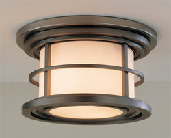 "10""w Lighthouse Burnished Bronze Flush Mount"