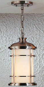 "7""w Lighthouse Brushed Steel Duo Mount Hanging Lantern"