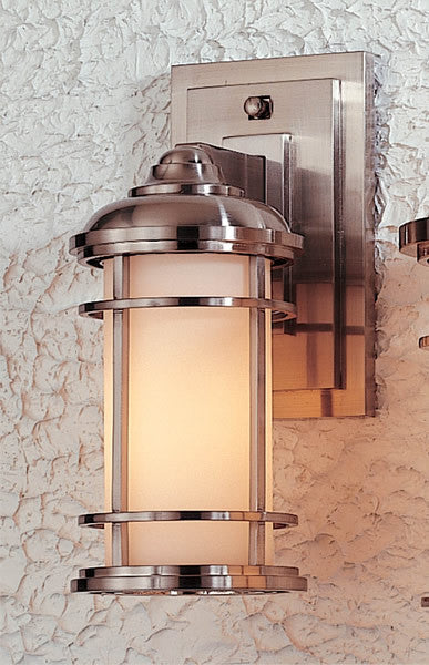 Feiss Lighthouse Brushed Steel Wall Mount Lantern OL2200BS