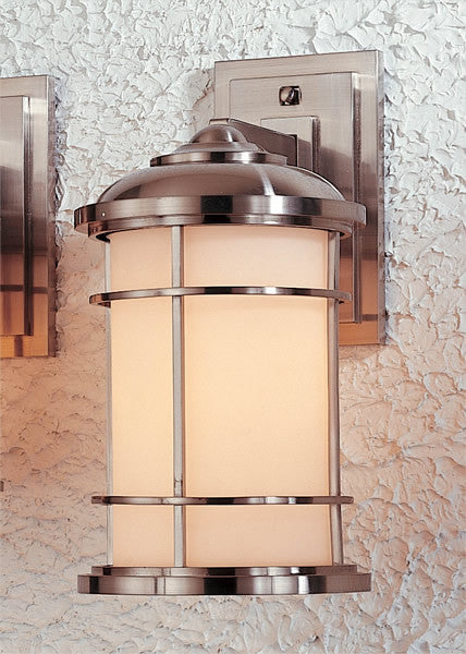 Feiss Lighthouse Brushed Steel Wall Mount Lantern OL2201BS