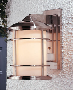 Feiss Lighthouse Brushed Steel Wall Mount Lantern OL2202BS