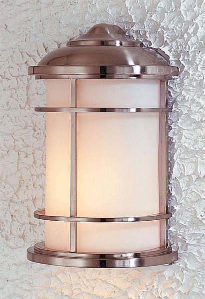Feiss Lighthouse Brushed Steel Wall Mount Lantern OL2203BS