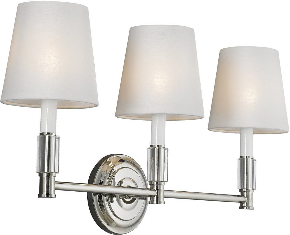 "24""w Lismore 3-Light Bath Light Polished Nickel"