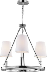 Feiss Lismore 3 Light Chandelier Polished Nickel F29213Pn