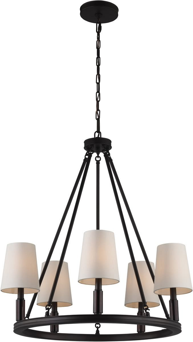 "28""W Lismore 5-Light Chandelier Oil Rubbed Bronze"