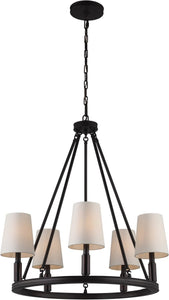 Feiss Lismore 5 Light Chandelier Oil Rubbed Bronze F29225Orb