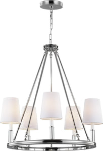 Feiss Lismore 5 Light Chandelier Polished Nickel F29225Pn