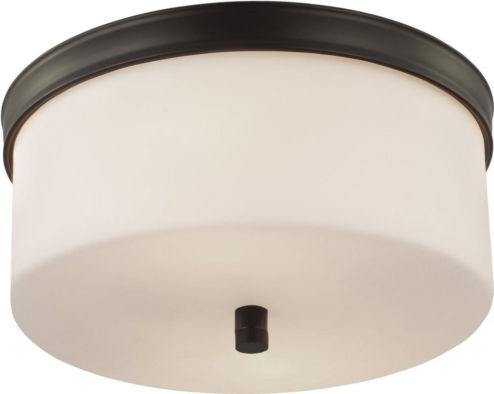"13""W Lismore 2-Light Flush Mount Oil Rubbed Bronze"