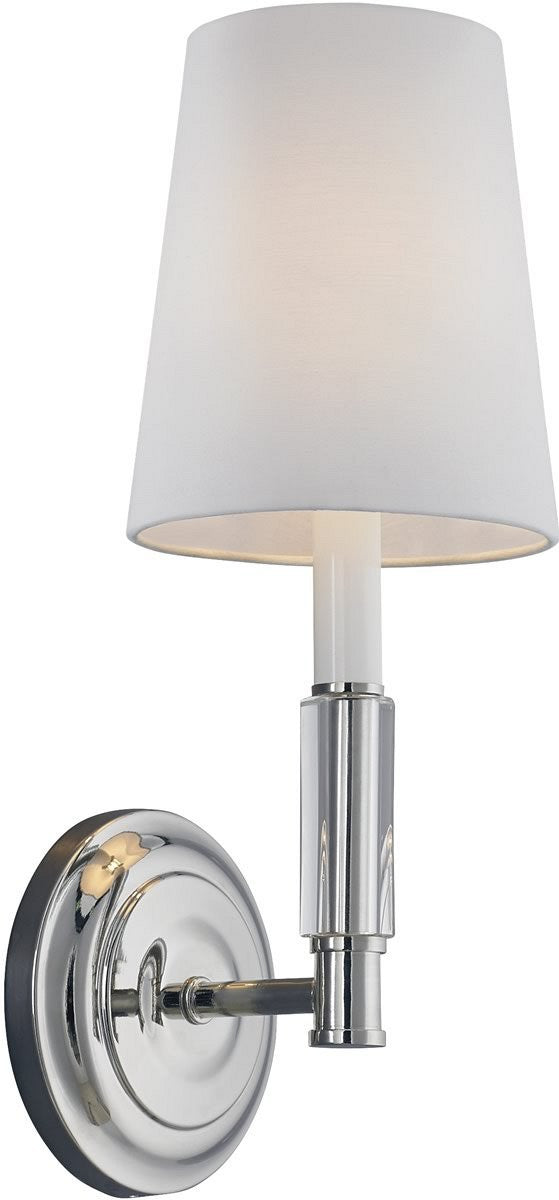 "6""W Lismore 1-Light Wall Sconce Polished Nickel"