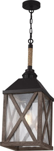 Feiss Lumiere 1 Light Chandelier Dark Weathered Oak Oil Rubbed Bronze F29561Dwoorb