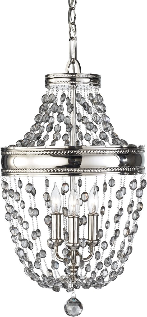 "12""w Malia 3-Light Mini Chandelier Polished Nickel"