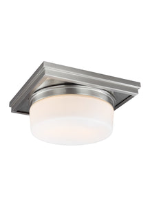 Feiss Mandie 2-Light Flush Mount Satin Nickel