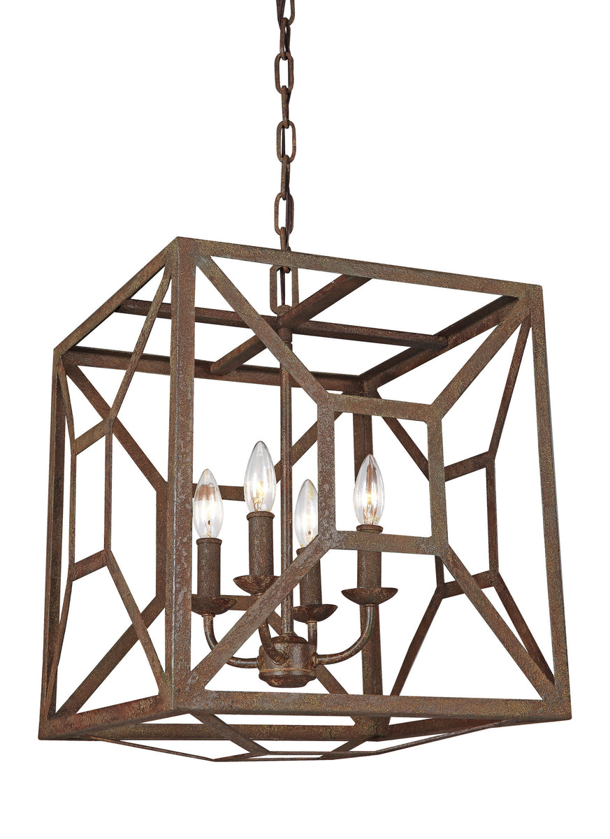 "17""W Marquelle 4-Light Chandelier Weathered Iron"
