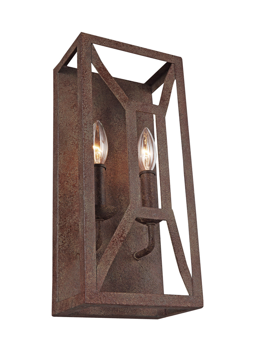 "7""W Marquelle 2-Light Wall Sconce Weathered Iron"