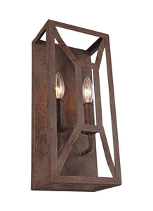 Feiss Marquelle 2-Light Wall Sconce Weathered Iron