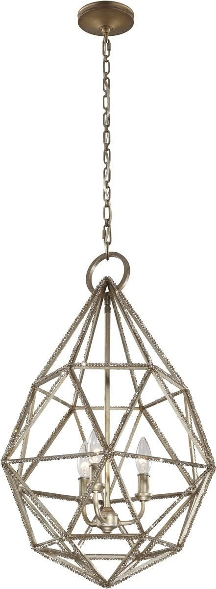 Marquise 3-Light Pendant Burnished Silver