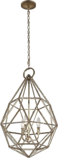 Feiss Marquise 3 Light Pendant Burnished Silver P1312Bus