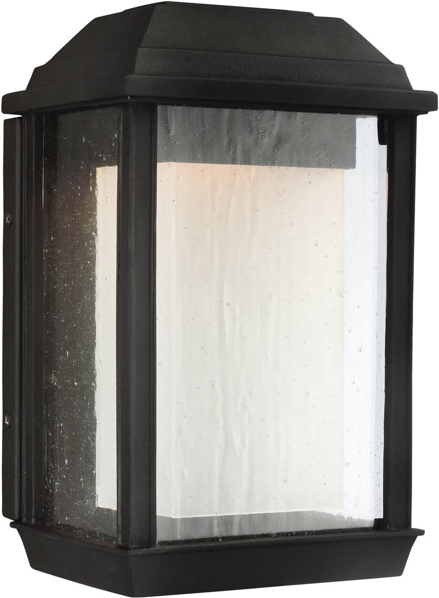 "11""H McHenry 1-Light Outdoor Wall Light Textured Black"