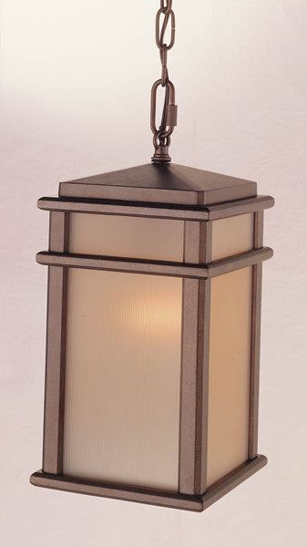 "7""w Mission Lodge Corinthian Bronze Hanging Lantern"
