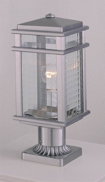"16""h Monterey Coast Brushed Aluminum Pier/Post Lantern"