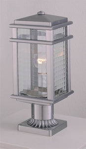 Feiss Monterey Coast Brushed Aluminum Pier/Post Lantern OL3407BRAL