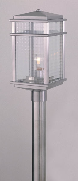 "19""h Monterey Coast Brushed Aluminum Pier/Post Lantern"