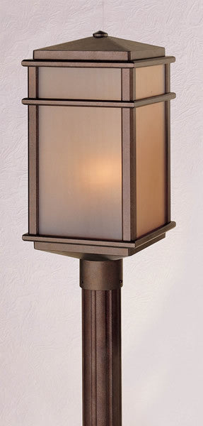 "19""h Mission Lodge Corinthian Bronze Pier/Post Lantern"