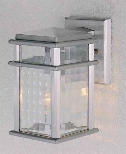 "9""h Monterey Coast Brushed Aluminum Wall Mount Lantern"