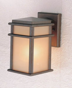 Feiss Mission Lodge Corinthian Bronze Wall Mount Lantern OL3400CB