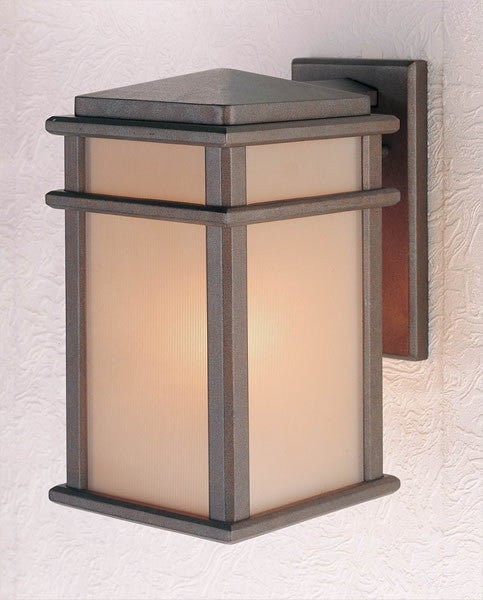 "13""h Mission Lodge Corinthian Bronze Wall Mount Lantern"