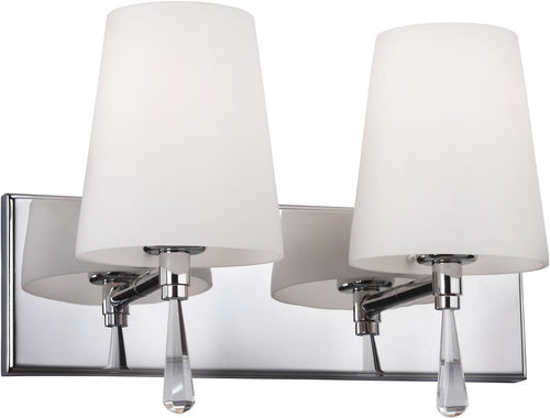 Feiss Monica 2 Light Bath Light Chrome Vs53002Ch