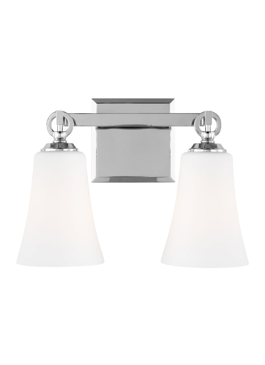 "14""W Monterro 2-Light Bath Vanity Chrome"