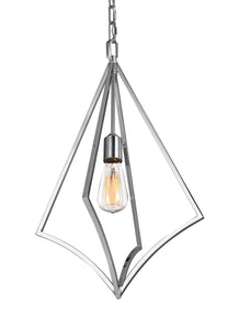Feiss Nico 1-Light Medium Pendant Chrome