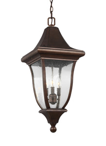 Feiss Oakmont 3-Light Outdoor Pendant Lantern Patina Bronze