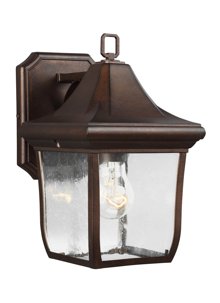 "11""H Oakmont 1-Light Outdoor Wall Lantern Patina Bronze"
