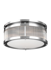 Feiss Paulson 3-Light Flush Mount Chrome