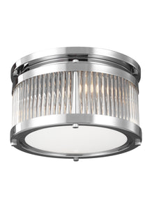 Feiss Paulson 2-Light Flush Mount Chrome