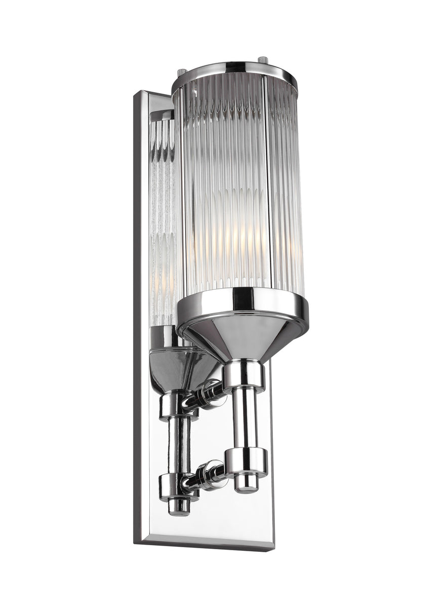 "5""W Paulson 1-Light Wall Sconce Chrome"